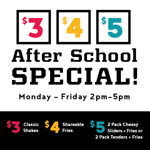 All New! $3-$4-$5   After School Special