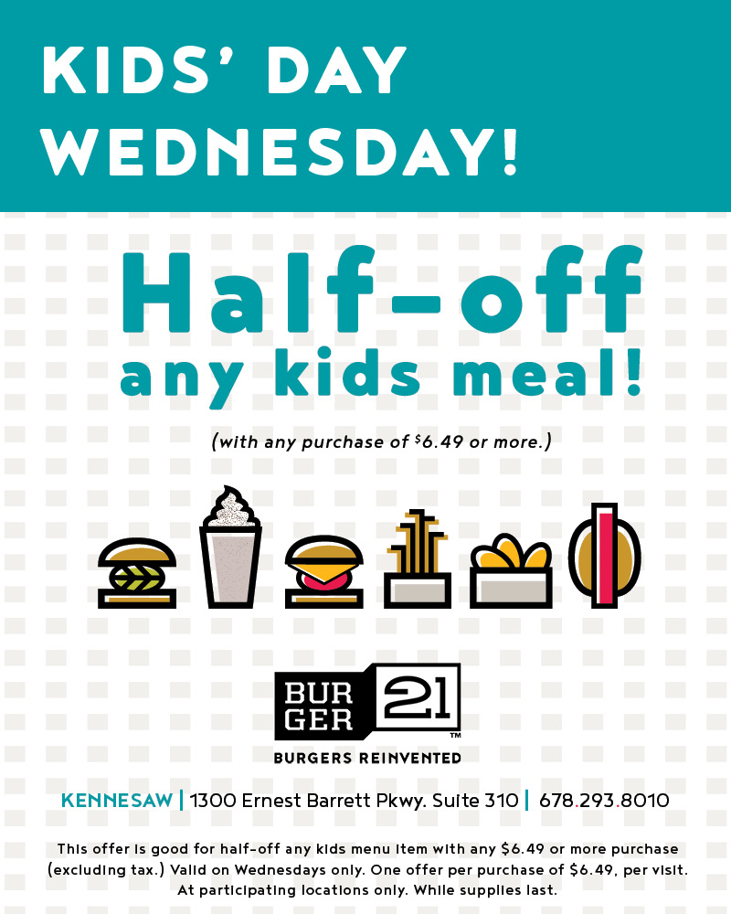 Treat the kiddos on Wednesdays at B21!