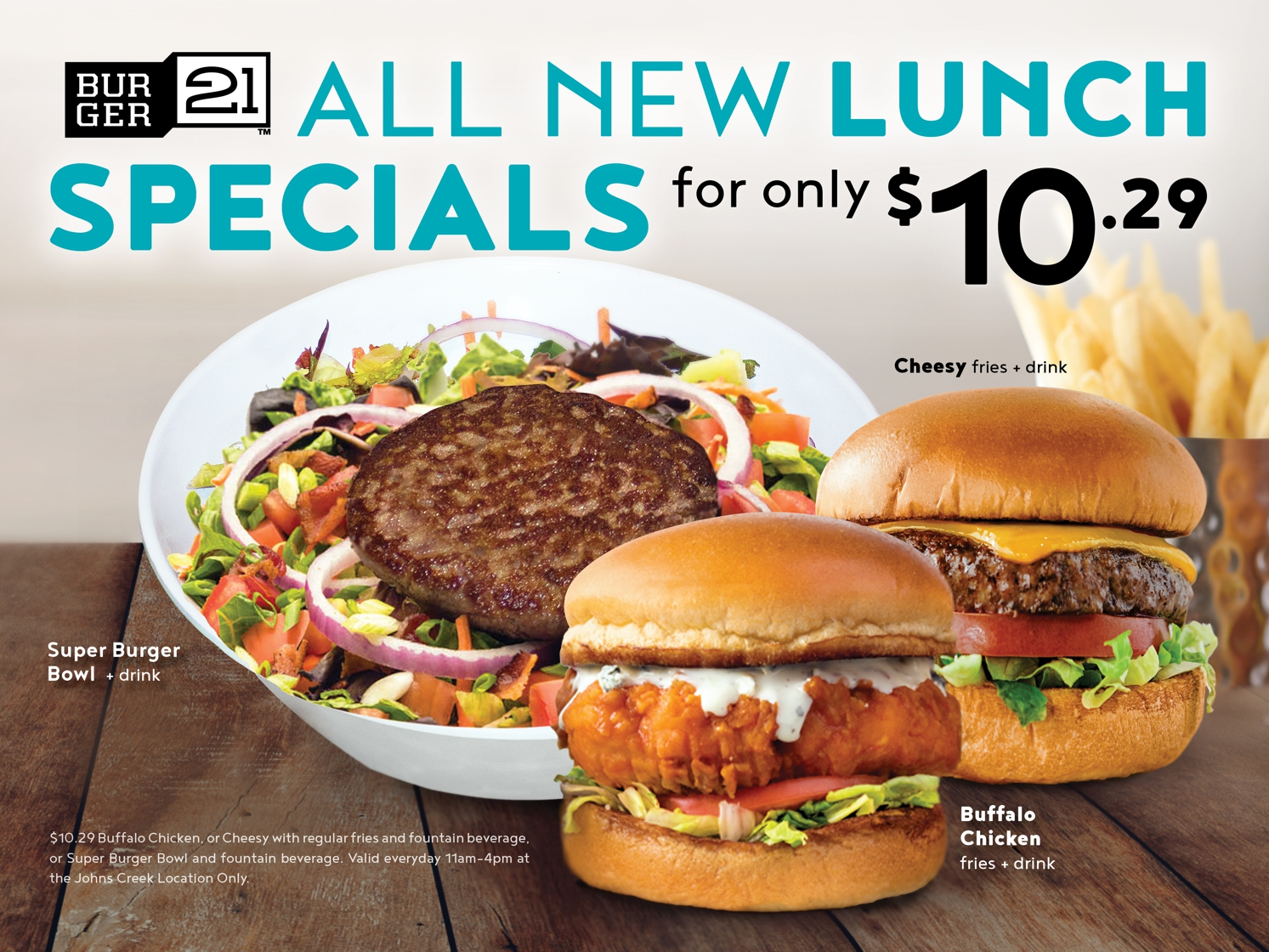 All New Lunch Specials!