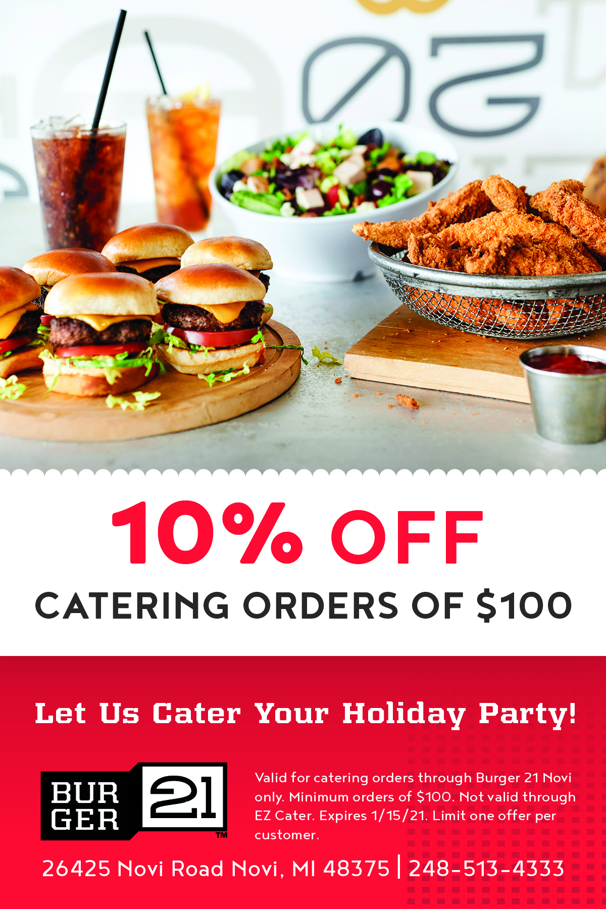 Let Us Cater Your Holiday Party
