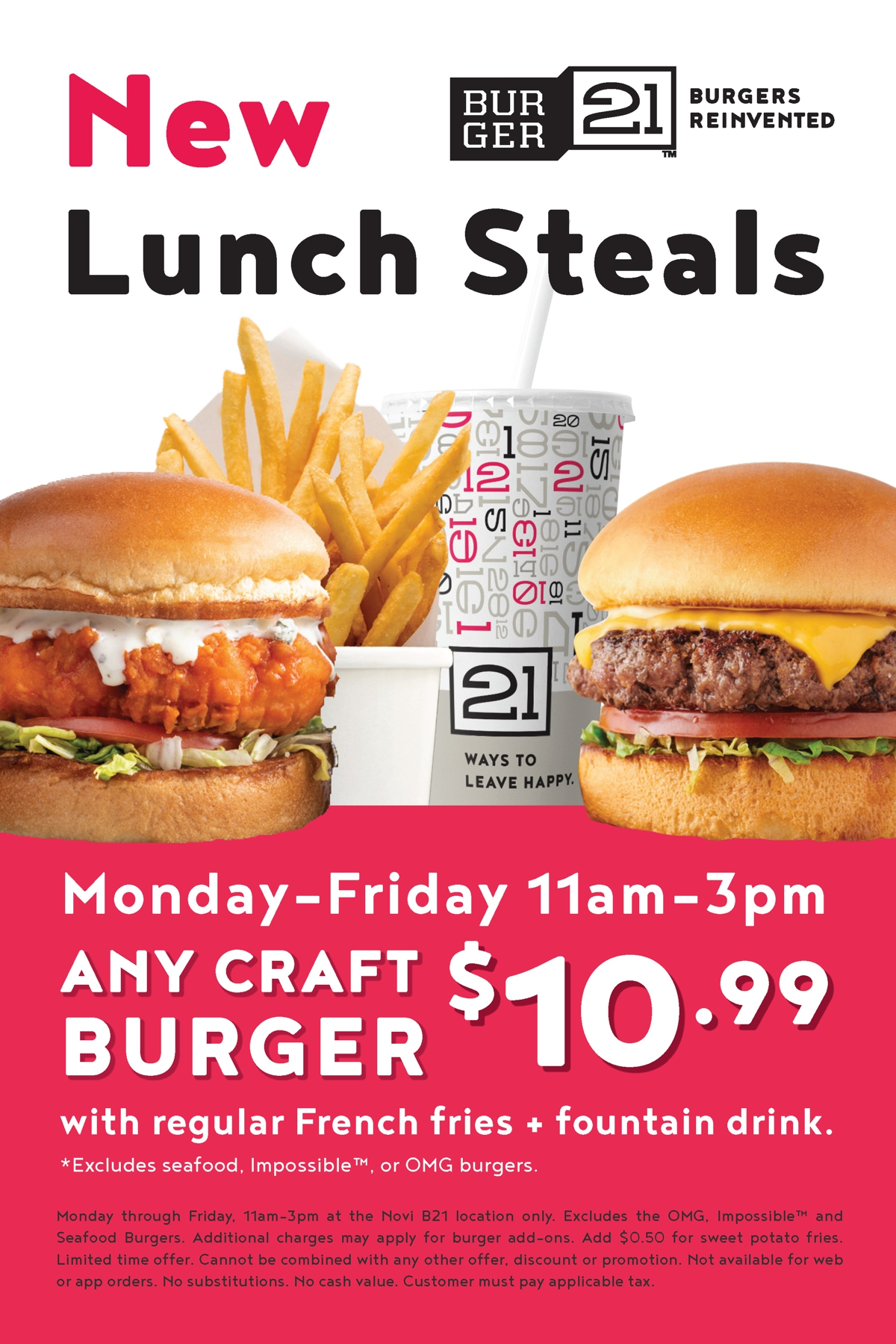 All New Lunch Steals!